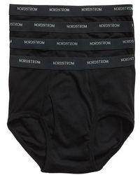 Nordstrom - 4-pack Supima Cotton Briefs, Black - Lyst