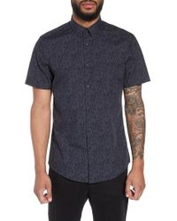 Calibrate - Trim Fit Print Welt Pocket Sport Shirt - Lyst