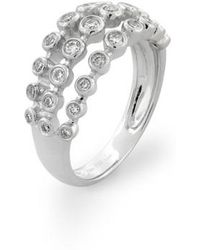 Bony Levy | Amara Three-row Bezel Diamond Ring (nordstrom Exclusive) | Lyst