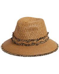 4aa28e8b87ebe Lyst - Eric Javits Classic Squishee Packable Fedora Sun Hat -