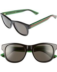 91652ecf92b Lyst - Gucci Medium Aviator Sunglasses With G Detail And Signature ...