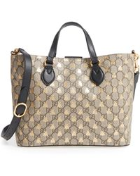 6dc4fb461f8 Lyst - Gucci Small Blooms Top Handle Gg Supreme Canvas Bag