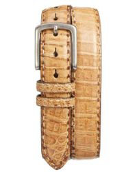 Torino Leather Company - Caiman Leather Belt - Lyst