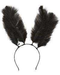 Cara - Feather Bunny Ears Headband - Lyst