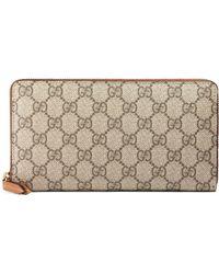 3041930b8a6 Gucci - Linea Gg Supreme Canvas Zip Around Wallet - Lyst