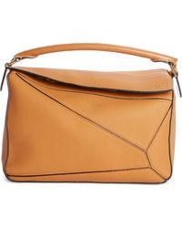 0eba62d928e8 Lyst - Loewe Medium Puzzle Leather Shoulder Bag - in Brown