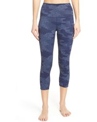 7959e74d9e5 Lyst - Zella Barely Flare Live In High Waist Pants in Black