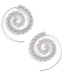 Jenny Packham - Crystal Swirl Earrings - Lyst