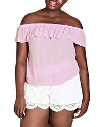 City Chic - Summer Delight Top - Lyst