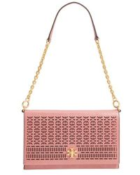 Tory Burch - Kira Perforated Leather Clutch - Lyst