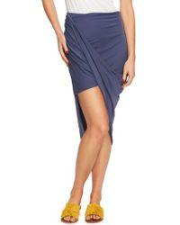1.STATE - Asymmetrical Wrap Style Skirt - Lyst