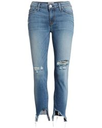 Hudson Jeans - Tally Ripped Crop Skinny Jeans - Lyst