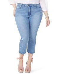 NYDJ - Marilyn Seastar Embroidered Ankle Skinny Jeans - Lyst