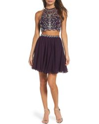 Blondie Nites - Embellished Two-piece Fit & Flare Dress - Lyst