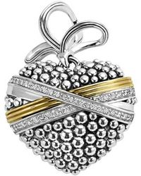 Lagos - 'diamond Caviar' Diamond Heart Pendant - Lyst