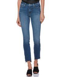 PAIGE - Transcend Vintage - Hoxton High Waist Ankle Straight Leg Jeans - Lyst