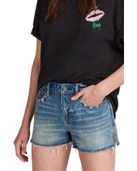 AllSaints - Star Cutoff Denim Shorts - Lyst