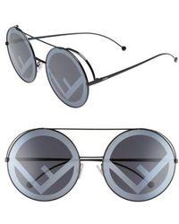3d59cba7c78e Dior  run  65mm Cat Eye Sunglasses in Metallic - Lyst