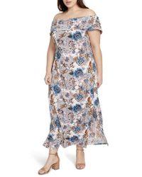 RACHEL Rachel Roy - Wonderlust Off The Shoulder Maxi Dress - Lyst
