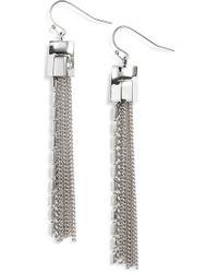 Vince Camuto - Mix Chain Tassel Drop Earrings - Lyst