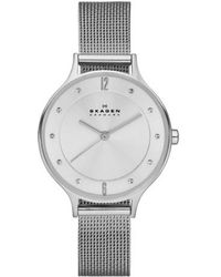 Skagen | 'anita' Crystal Index Mesh Strap Watch | Lyst