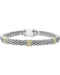 Lagos - 'signature Caviar' Diamond Rope Bracelet - Lyst