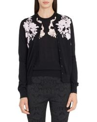 Dolce & Gabbana - Placed Lace Cashmere Cardigan - Lyst