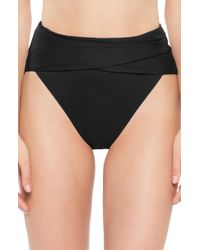 Becca - Color Code Crossover High Waist Bikini Bottoms - Lyst