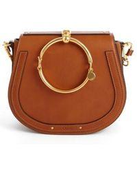 Chloé - Medium Nile Leather Bracelet Saddle Bag - Lyst