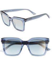 Web - 49mm Sunglasses - Shiny Blue/ Blue Mirror - Lyst