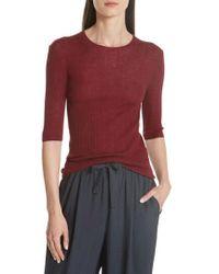 Vince - Shrunken Merino Wool Sweater - Lyst