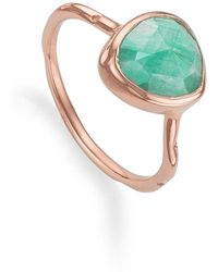 Monica Vinader - Siren Semiprecious Stone Stacking Ring - Lyst