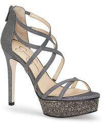 87edce03d Lyst - Jessica Simpson Rel Slingback Block-heel Platform Sandals in ...
