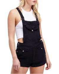 Free People - Expedition Short Overalls - Lyst
