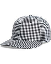 598885f3ca61c Lyst - Rag   Bone Grey Leather Brim Baseball Cap in Gray for Men