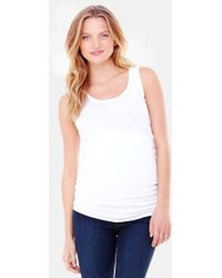 Ingrid & Isabel | Ingrid & Isabel Scoop Neck Maternity Tank | Lyst