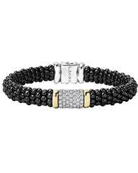 Lagos - 'black Caviar' Diamond Pave Rope Bracelet - Lyst