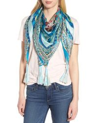 Johnny Was | Boutique Tassel Silk Square Scarf | Lyst