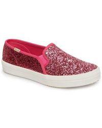 Kate Spade - Keds For Kate Spade New York Double Decker Glitter Slip-on Sneaker - Lyst