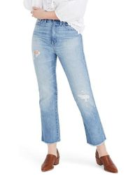 Madewell - Rigid Crop Demi Boot Jeans - Lyst