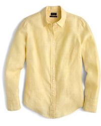 J.Crew | J.crew Slim Perfect Cross Dyed Irish Linen Shirt | Lyst