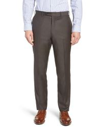 John W. Nordstrom - John W. Nordstrom Torino Traditional Fit Flat Front Solid Trousers - Lyst