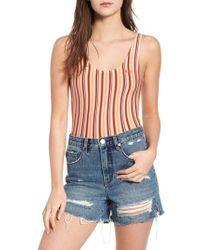 Obey - Both Sides Stripe Bodysuit - Lyst