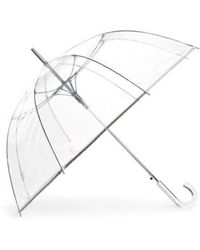 Shedrain - Auto Open Stick Clear Dome Umbrella - Metallic - Lyst