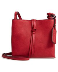 Sole Society - Faux Leather Crossbody Bag - Lyst