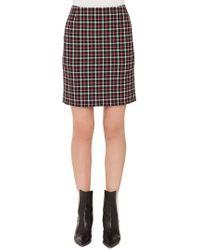 Akris Punto - Checked Miniskirt - Lyst