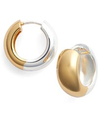 Argento Vivo - Reversible Two-tone Hoop Earrings - Lyst