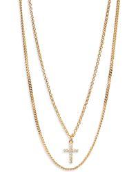 Argento Vivo - Double Layer Cross Necklace - Lyst