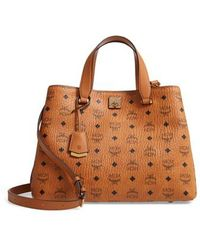 MCM - Large Visetos Coated Canvas Tote - Lyst