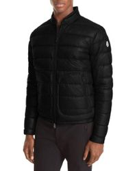 22360b9ce Lyst - Moncler Acorus Quilted Down Jacket in Blue for Men